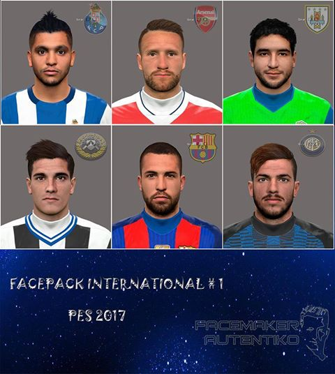 PES 2016 / PES 2017 Facepack International #1 by Autentiko
