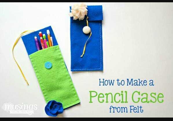 Dua Cara Mudah Membuat Kotak Pensil Cantik Dari Kain Flanel Sederhana Dr Sampah