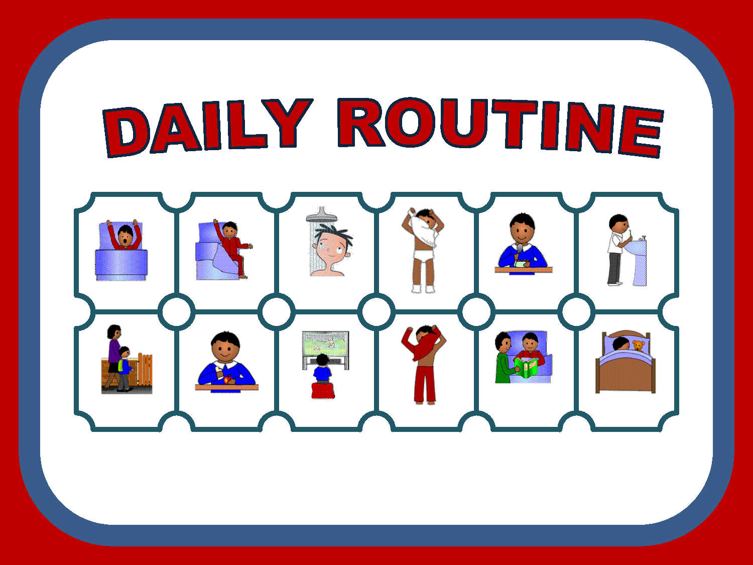 campus english daily routine