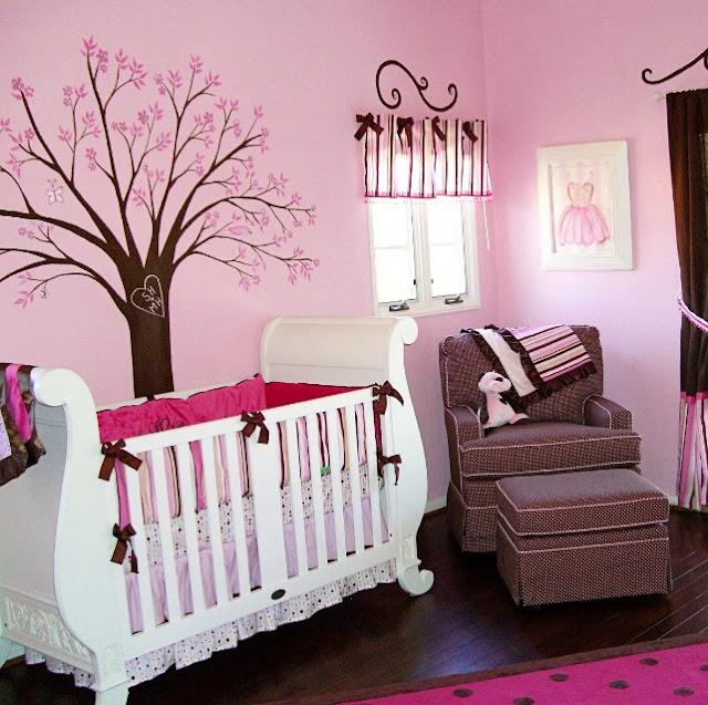 Kamar Tidur Bayi Perempuan Minimalis Ukuran 3x3