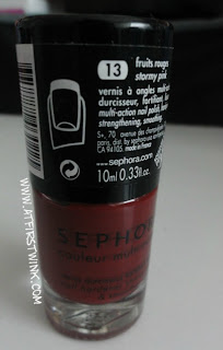 Sephora coulour multi-action nail polish in 13 stormy pink