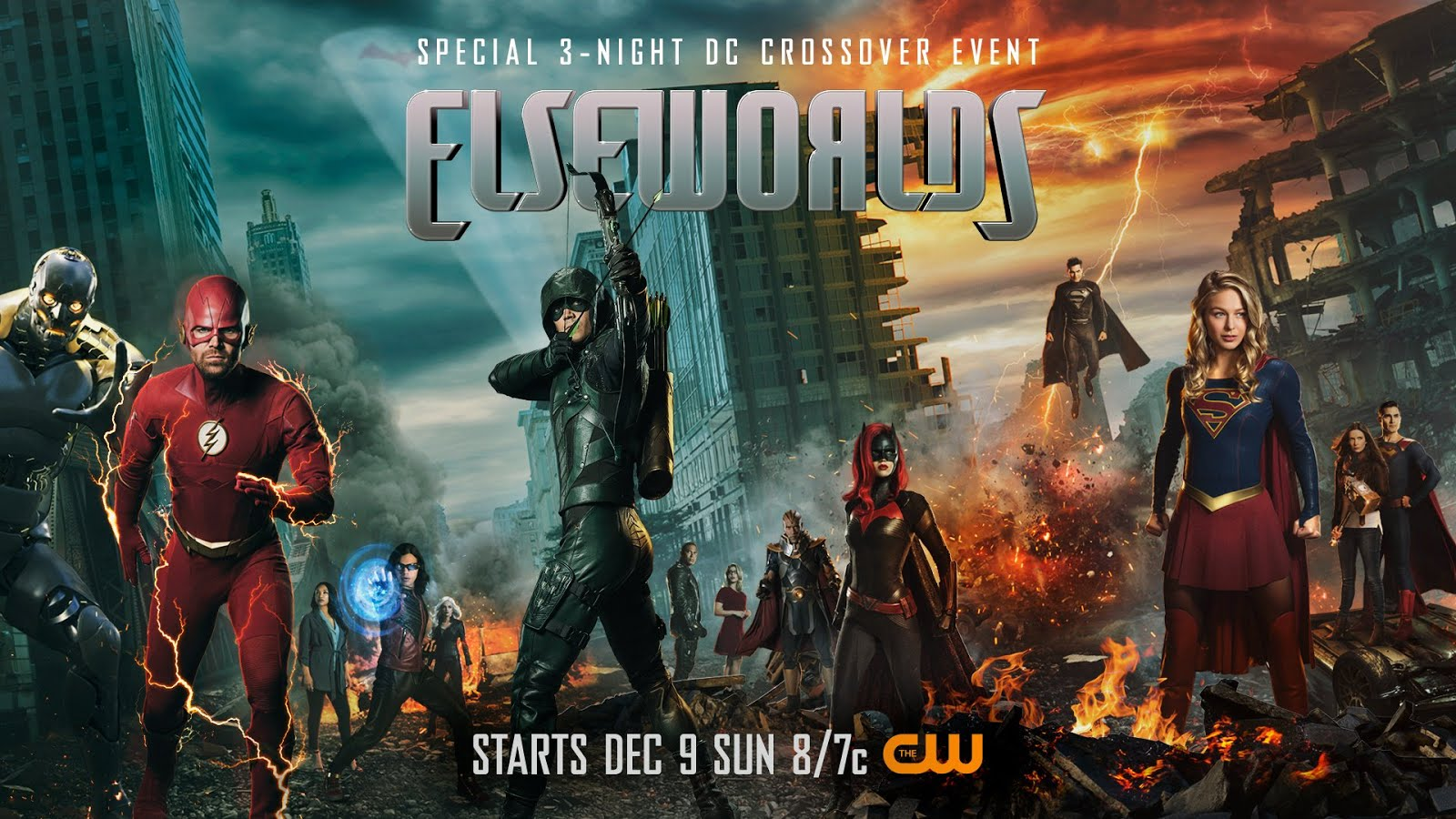 Imagen promocional de Elseworlds, el nuevo crossover del Arrowverse.