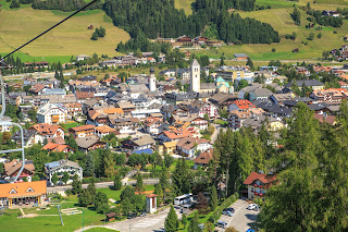 The town of San Candido is close to the Austrian border