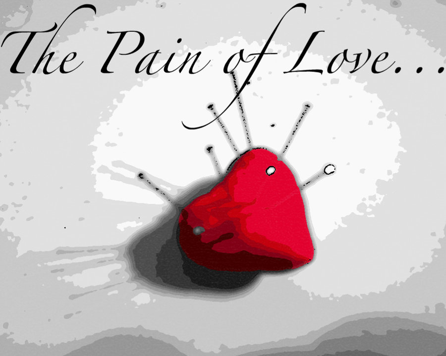 Heart Pinned Nails Pain Of Love Image
