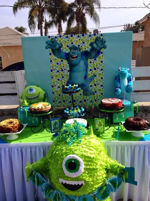 Decoraci 243 N De Fiesta Infantil De Monster Inc Fiestas