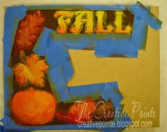 The Creative Pointe Easy Canvas Painting Using Vinyl Stencils