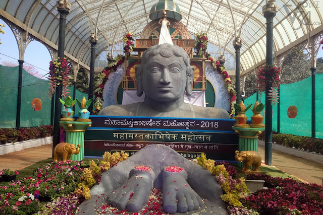 Replica of the Mahamastakabhisheka 2018