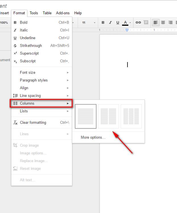 Friday Google Tidbit Columns In Google Docs JCS Tech Contact Blog - Google docs columns