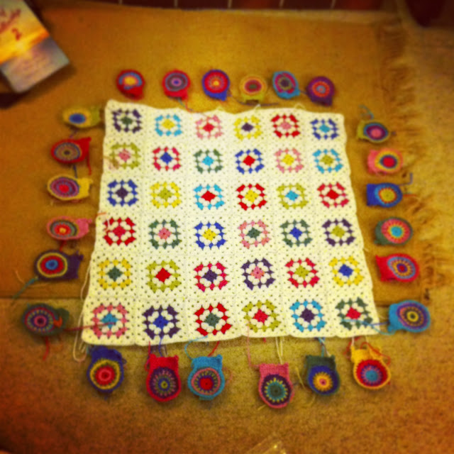 work in progress crochet blanket