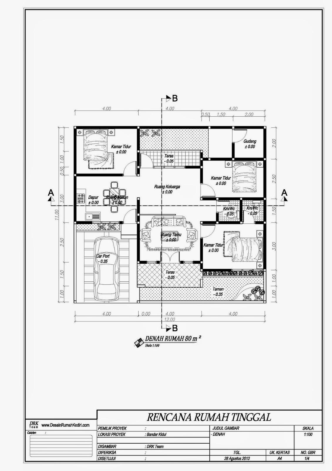 LT1-04 : Rumah Minimalis 1 Lantai Bandar Kidul Kota Kediri ...