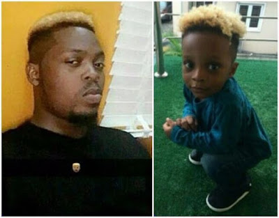 Olamide has finally opened up why he dyed his son head