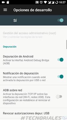 depuracion usb android 7