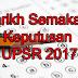 Tarikh Semakan Keputusan UPSR 2017