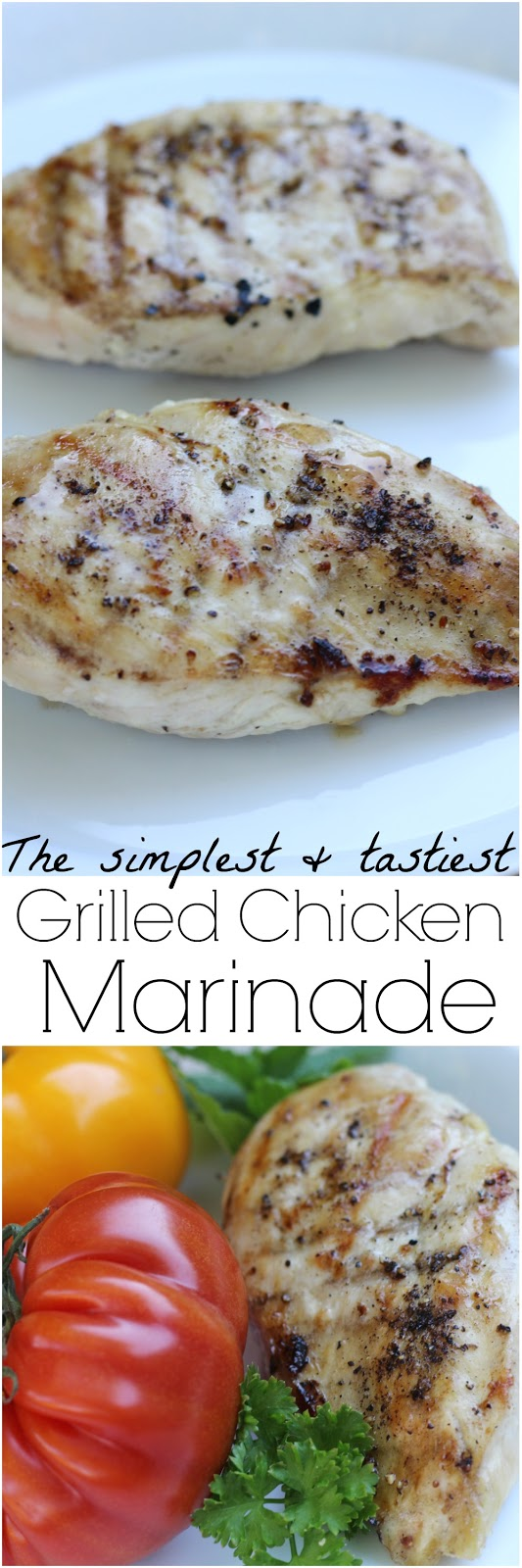 This simple chicken marinade has only 3 ingredients and is so tasty!