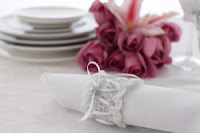 10 Free Crochet Wedding Patterns--Free Crochet Pattern for Napkin Rings