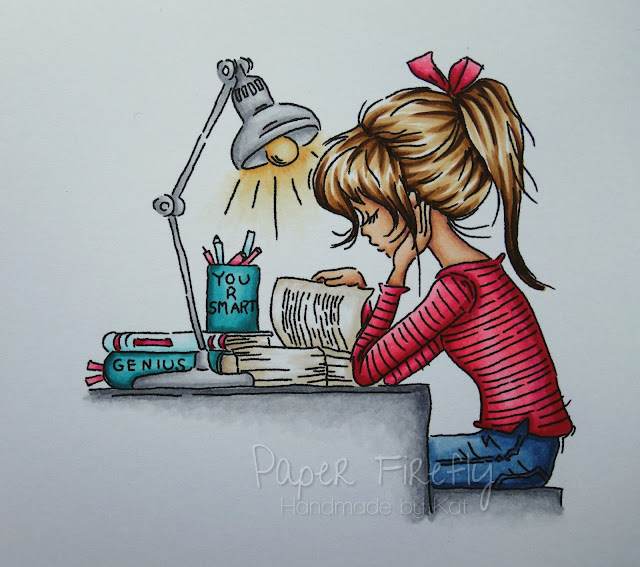 Girl studying at desk (image is Jasmine studying by Lili of the Valley)