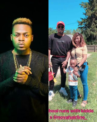 Olamide , his wife and children