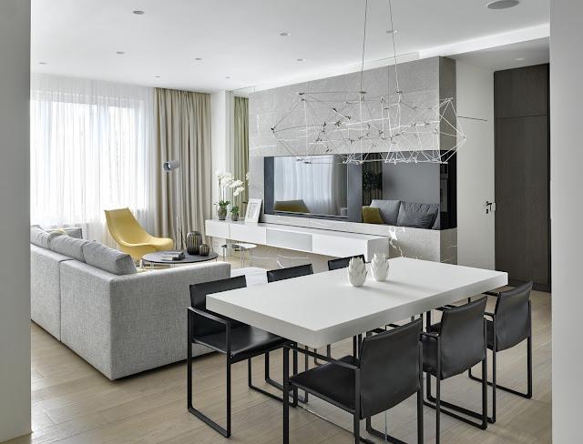 Современный интерьер квартиры в Москве от Александры Федоровой