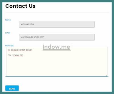 Cara Membuat Contact Us atau Formulir Kontak Blog Yang Keren dan Ringan