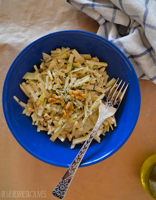 CELERIAC, APPLE AND WALNUT SALAD