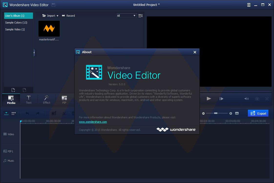 download wondershare video editor full