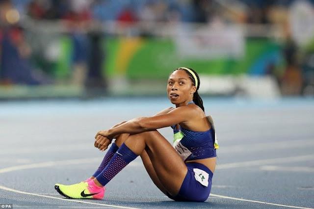 El espectacular 'clavado' que hizo Shaunae Miller en la Meta para ganarse el Oro en 400 metros
