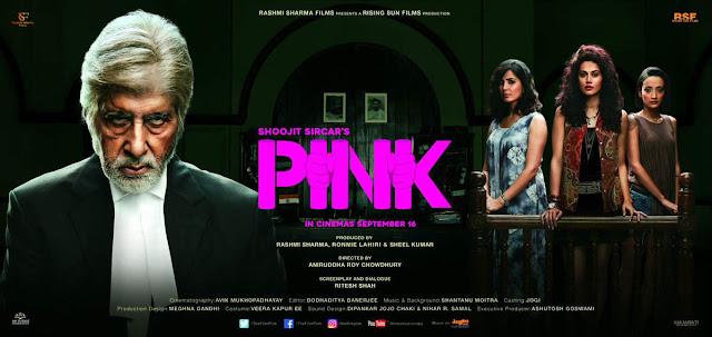 Pink Movie , Pink Movie Poster, Pink Movie Amitabh Bachchan, Pink Amitabh