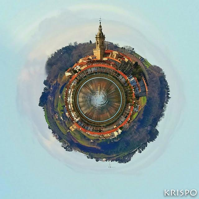 imagen circular de hondarribia