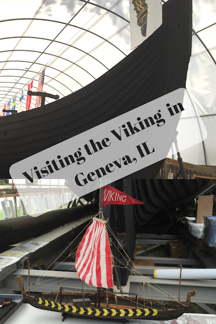 Visiting the Viking Ship from the World's Columbian Exhibition in Geneva, IL