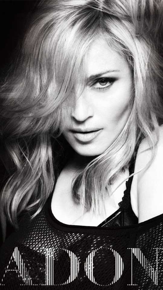 Madonna Ciccone Black and White   Galaxy Note HD Wallpaper