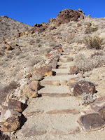 Rock steps along Fortynine Palms Oasis Trail, Joshua Tree National Park