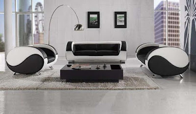 black and white sofa set designs for modern living room interiors  4)