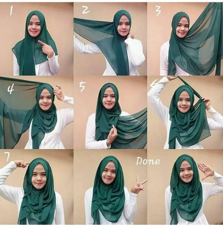30+ Cara Memakai Jilbab Segi Empat Terbaru Aneka Kreasi