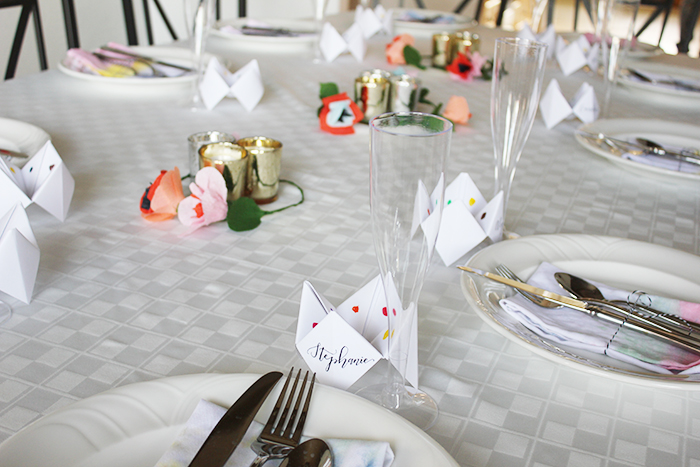 unique cootie catcher place cards