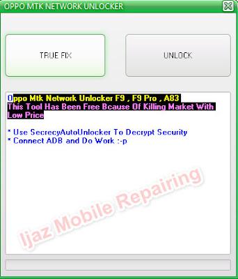 Oppo Mtk Network Unlocker For F9 , F9 Pro , A83 Download