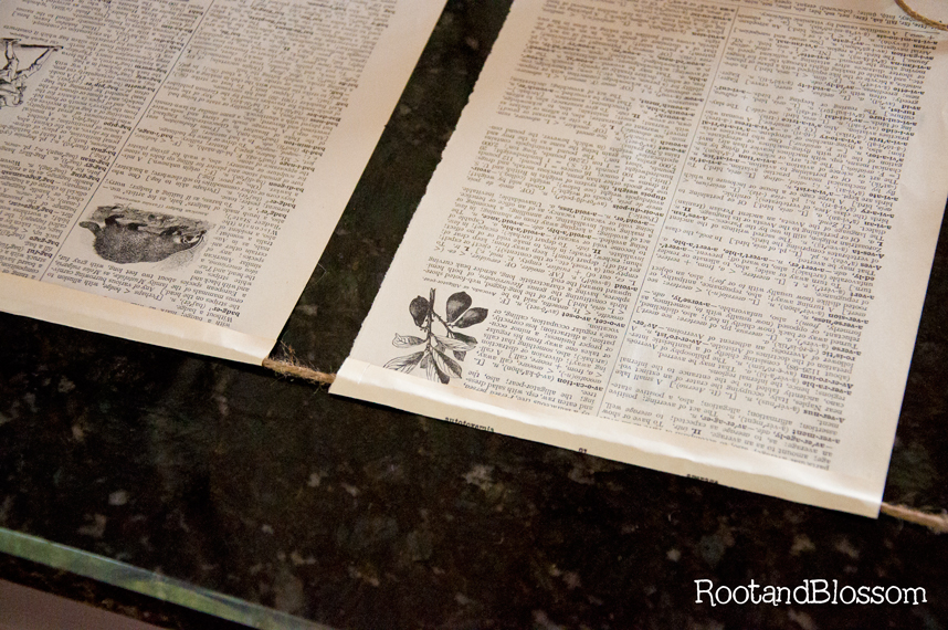 photograph regarding Printable Vintage Dictionary Pages identify Rootandblossom: Common Layout Halloween Banner Printable