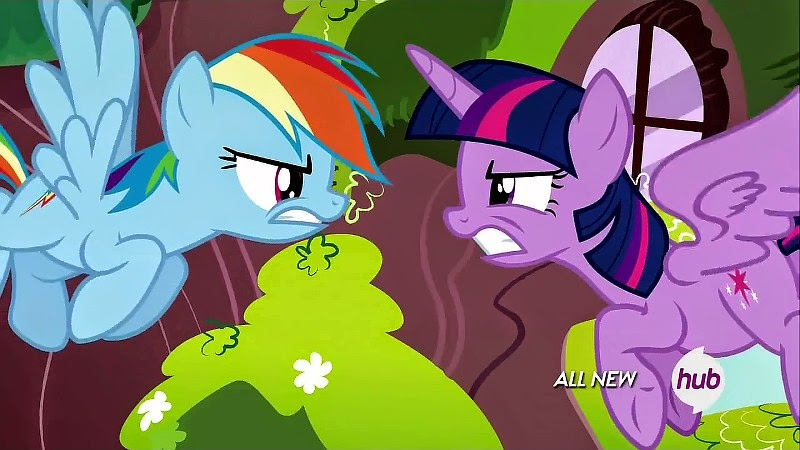 Rainbow Dash argues with Fluttershy