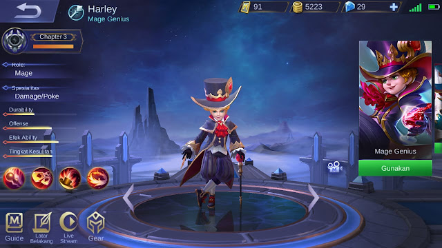 Mage Terkuat di Mobile Legends Season 11 Harley