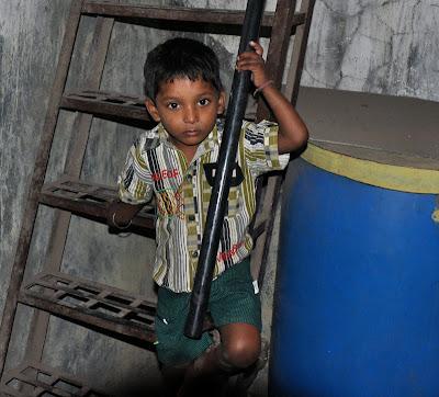 little boy in india