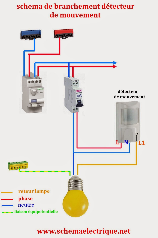 Lumandar schema electrique - Prise detecteur de mouvement ...