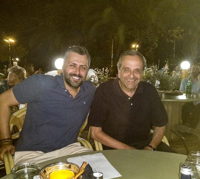 Αντώνης Σαμαράς και Γιάννης Καλλιάνος στο Ναύπλιο