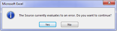 Pesan Error Validasi Excel