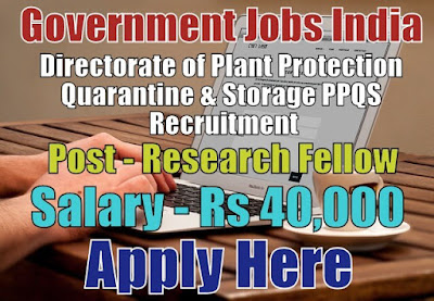 PPQS Recruitment 2017 Apply Here for Research Fellow Posts