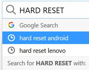 Memperbaiki ponsel android dengan cara factory reset