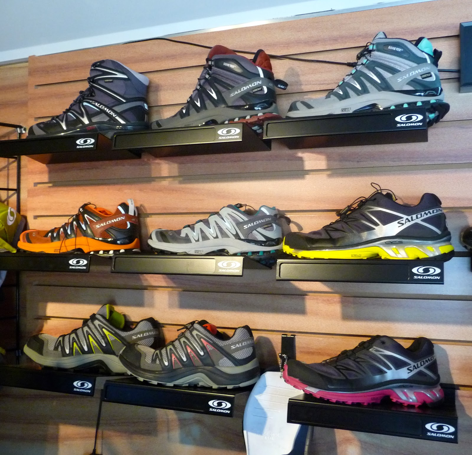 b3fd6405f1 a wall full of fast hikers-year round waterproof hikers comfort-including  the new Conquest GTX