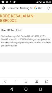 Kode Kesalahan BBR00Q2