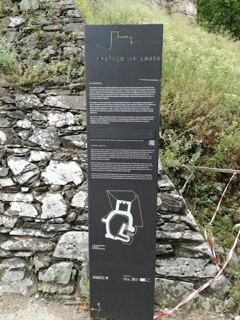 Placa do castelo da Lousã
