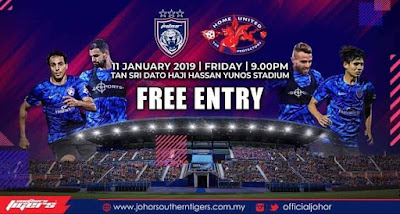 Live Streaming JDT vs Home United Friendly Match 11.1.2019