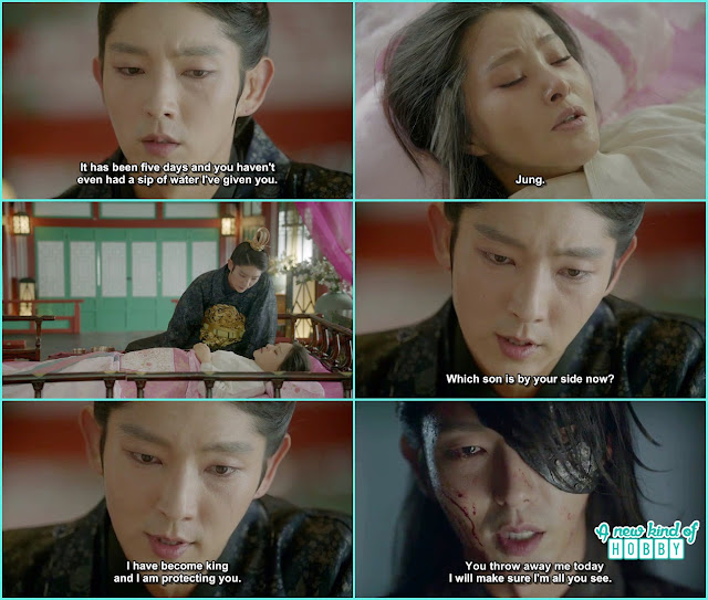 wang so told queen yoo i am th eonly one left yoo died and jung was not here i promised you you will remember that day when you throw me away - Moon Lovers Scarlet Heart Ryeo - Episode 18 (Eng Sub)