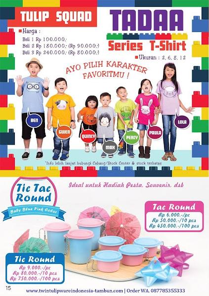 Tulip Squad Murah Oktober 2017, Tadaa T-Shirt, Tic Tac Round